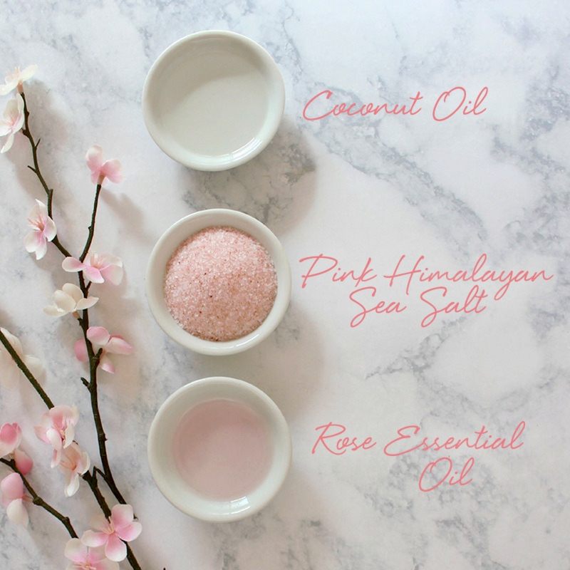 Mother's Day DIY Coconut Rose Body Scrub