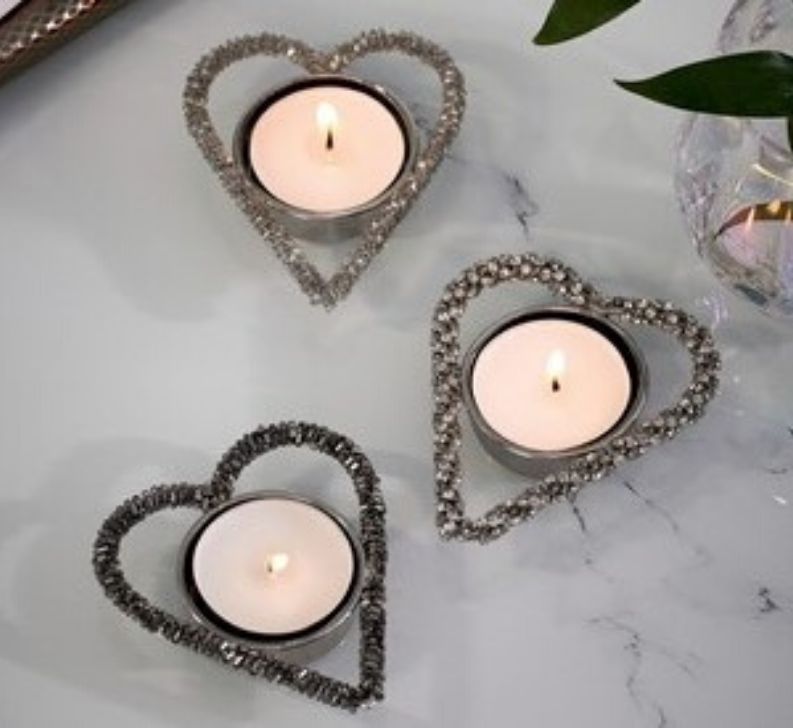 Valentine's day home decor Next Home Set of 3 Beaded Tealight Holders