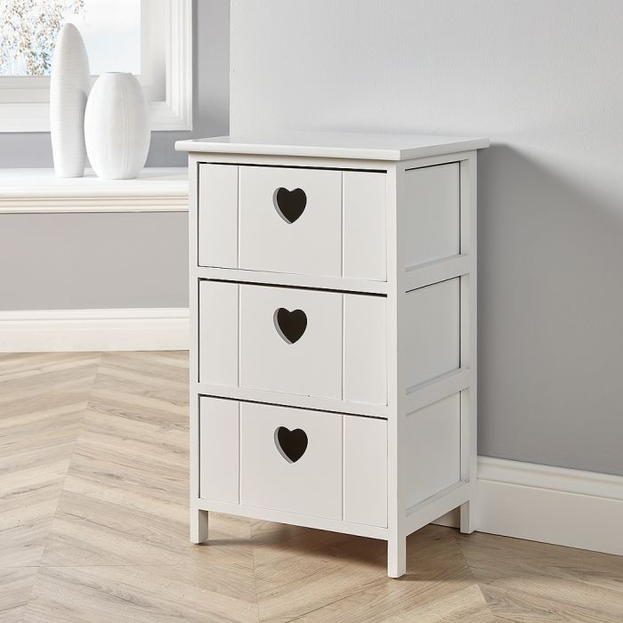 Valentine's day home decor Big Furniture Warehouse Lovestack 3-drawer heart wooden cabinate