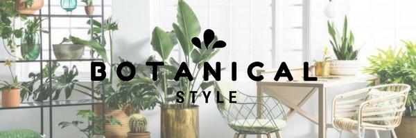botanical interior style banner