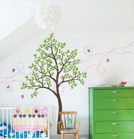 birch treee botanical wall sticker