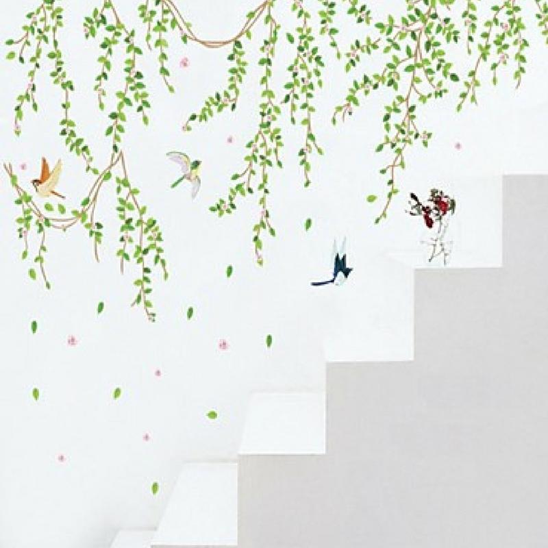 botanical tree vines wall sticker