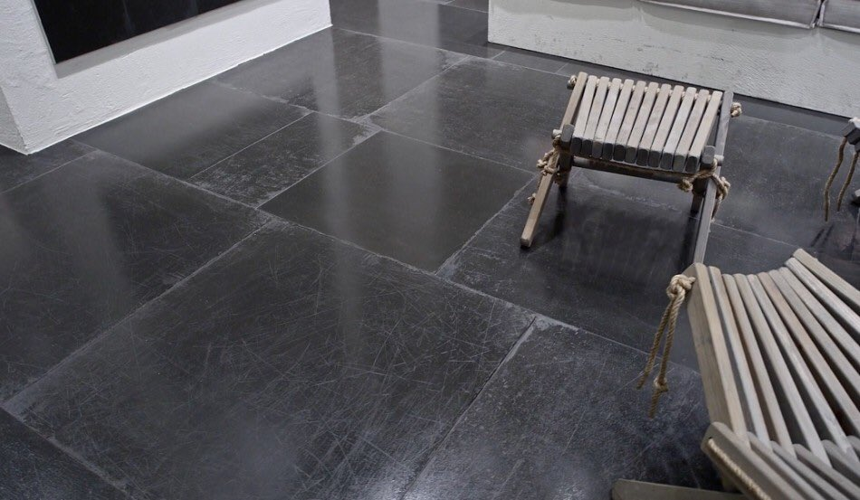 Industrial dark grey concrete style tiles