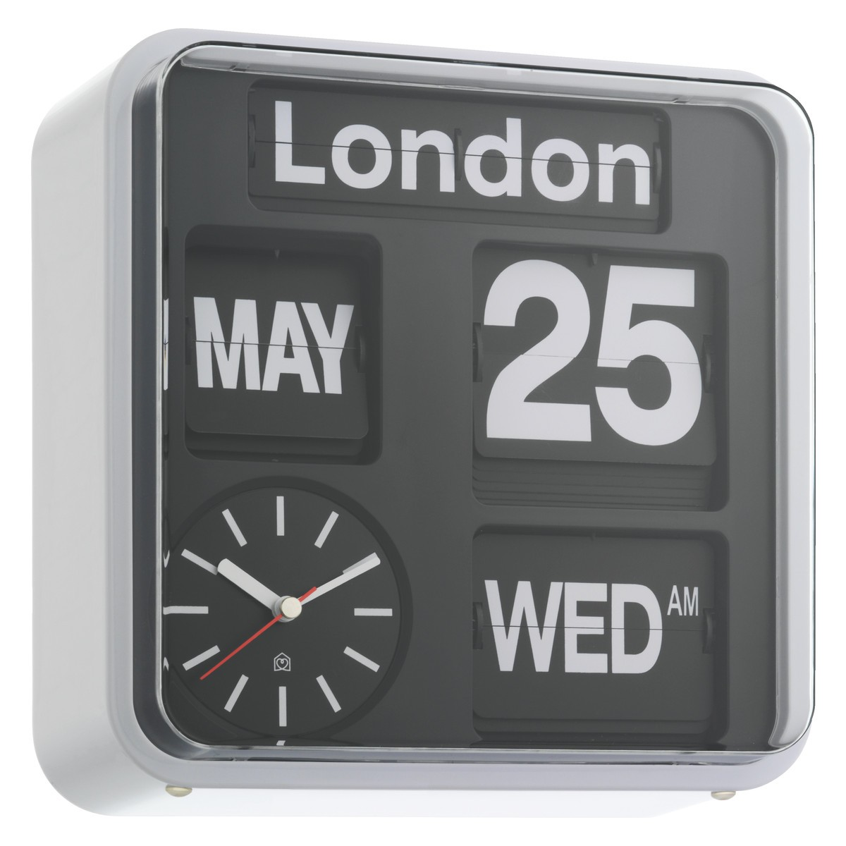 retro black and white flip clock