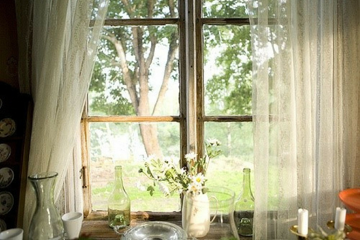 hygge windows wide open with sunlight pouring in
