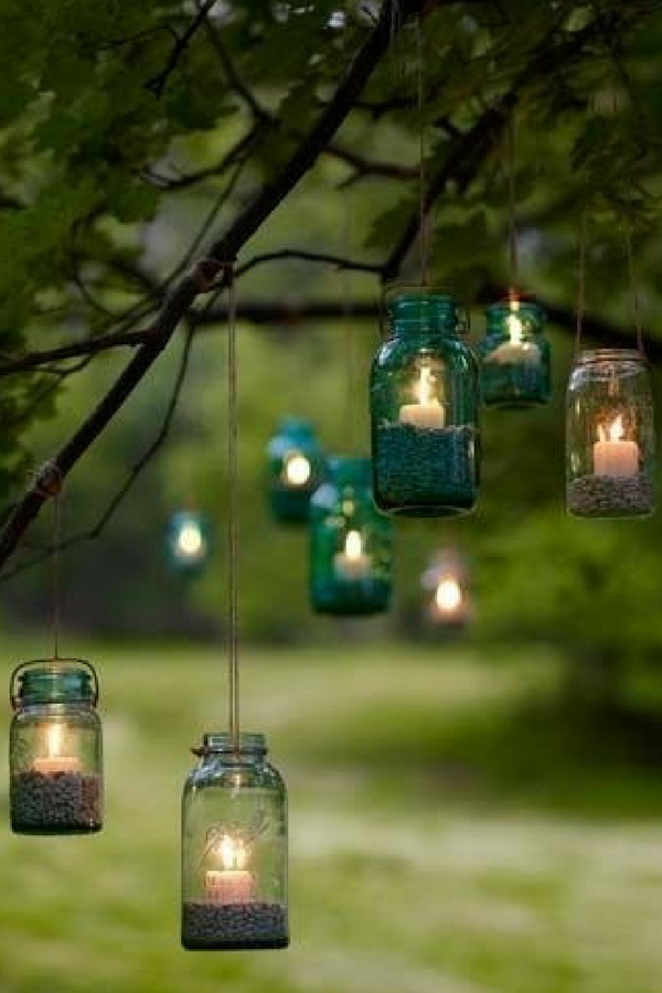 garden tree lights perfect for a summer night