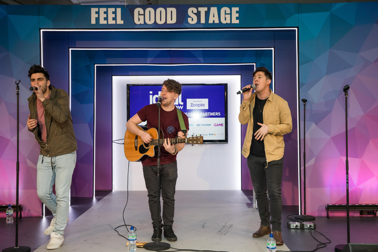 ideal home show 2017 feel good stage musical acts