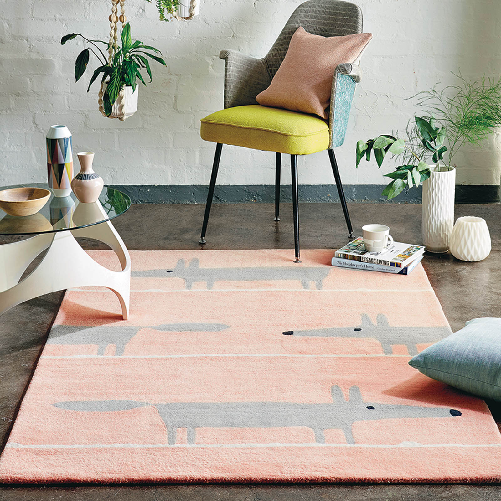 mr fox rug in pink from the rug selller