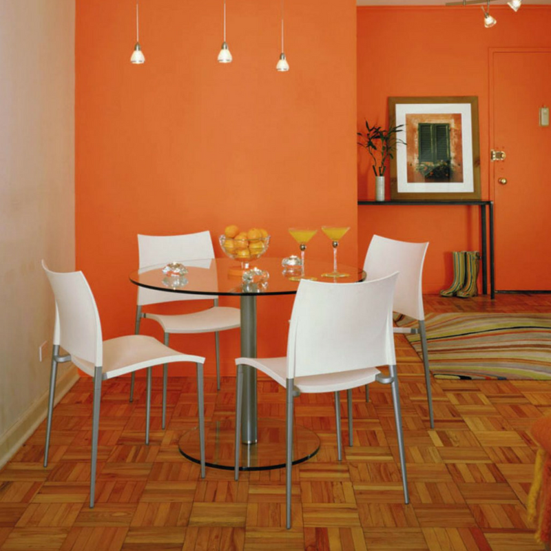 room colour orange dining room