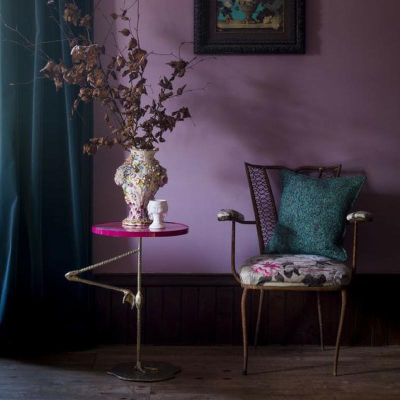 room colour purple lounge