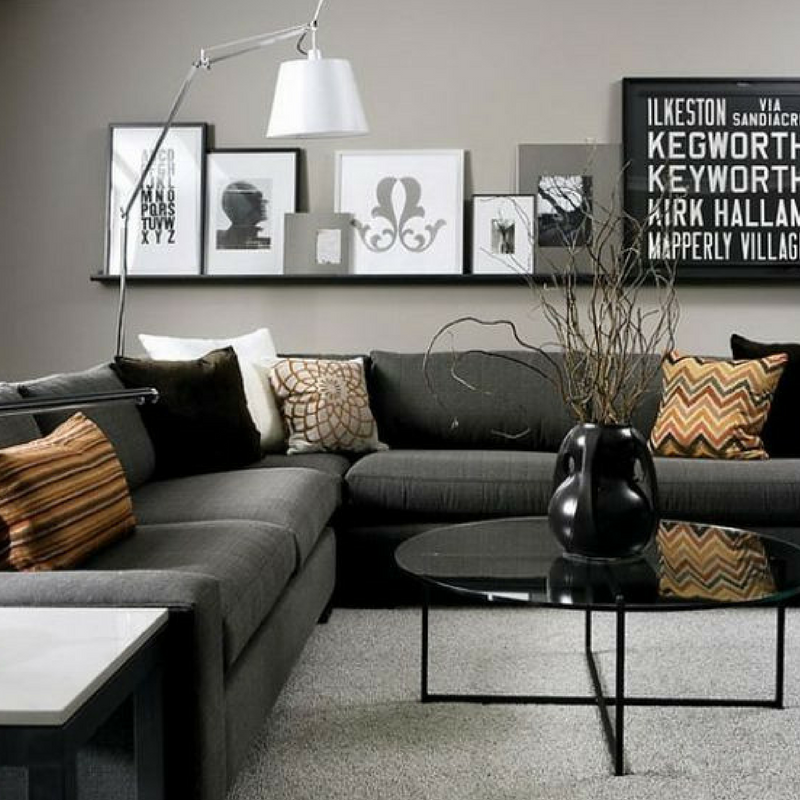 games of thrones style black and gold living room