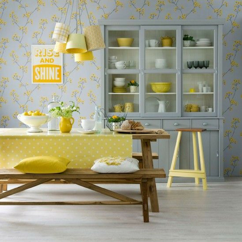 room colour yellow dining room