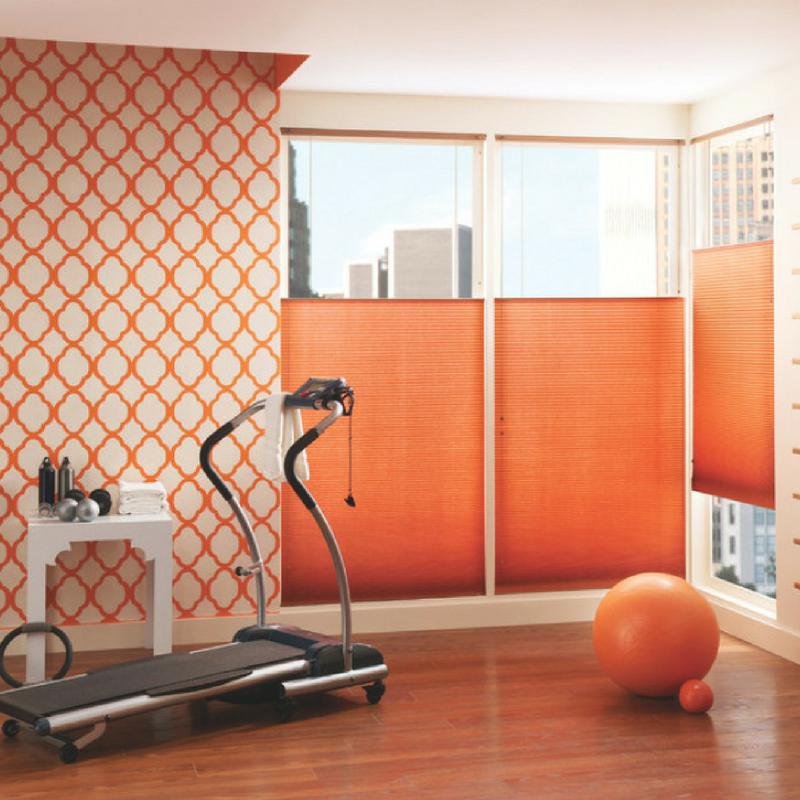 room colour orange home gym
