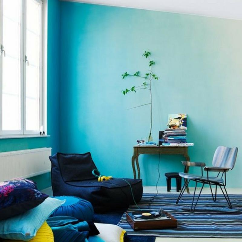 ombre blue room colour