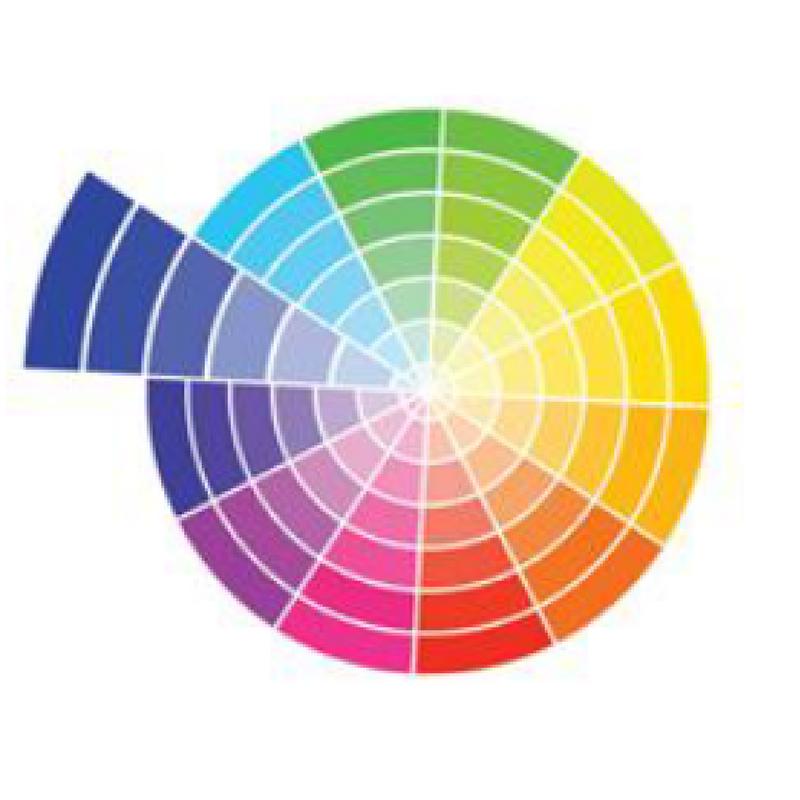 monotone colour wheel
