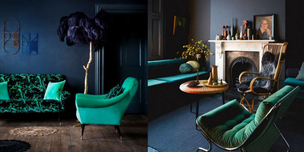 summer hottest interior trends dark colour trends