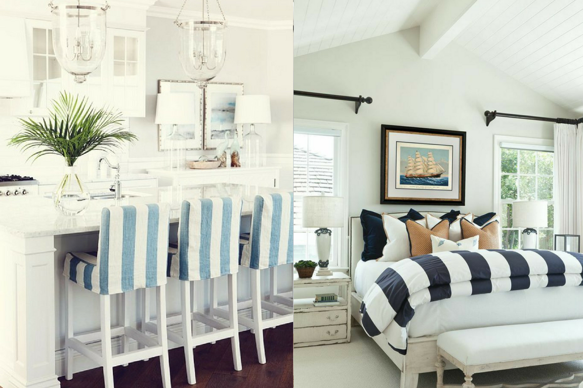 coastal chic striped surfaces