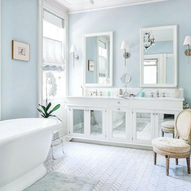 room colour blue bathroom