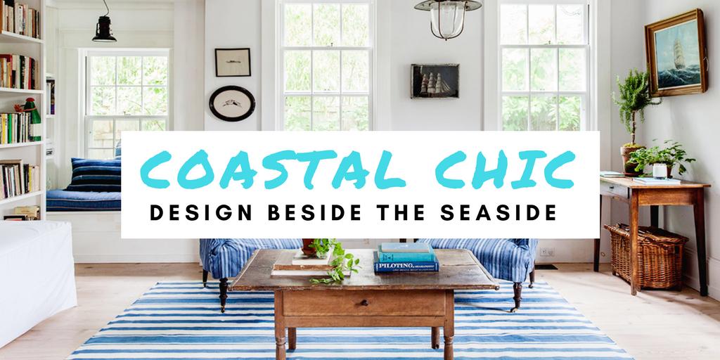 coastal chic interior design banner image