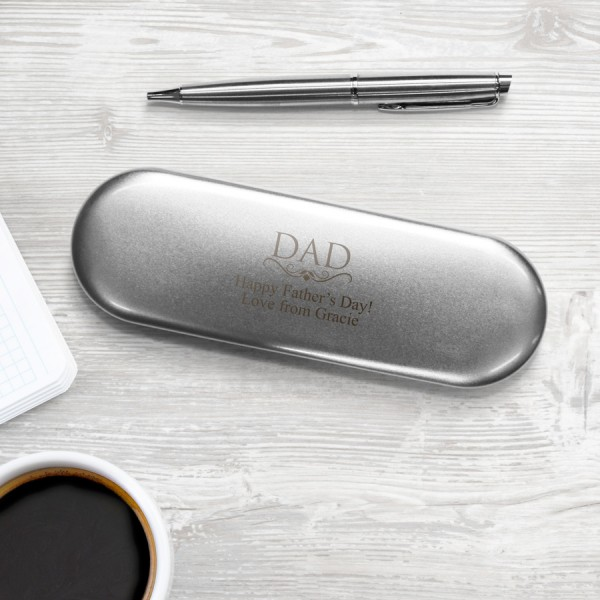 dad father's dad gift pen and pencil case