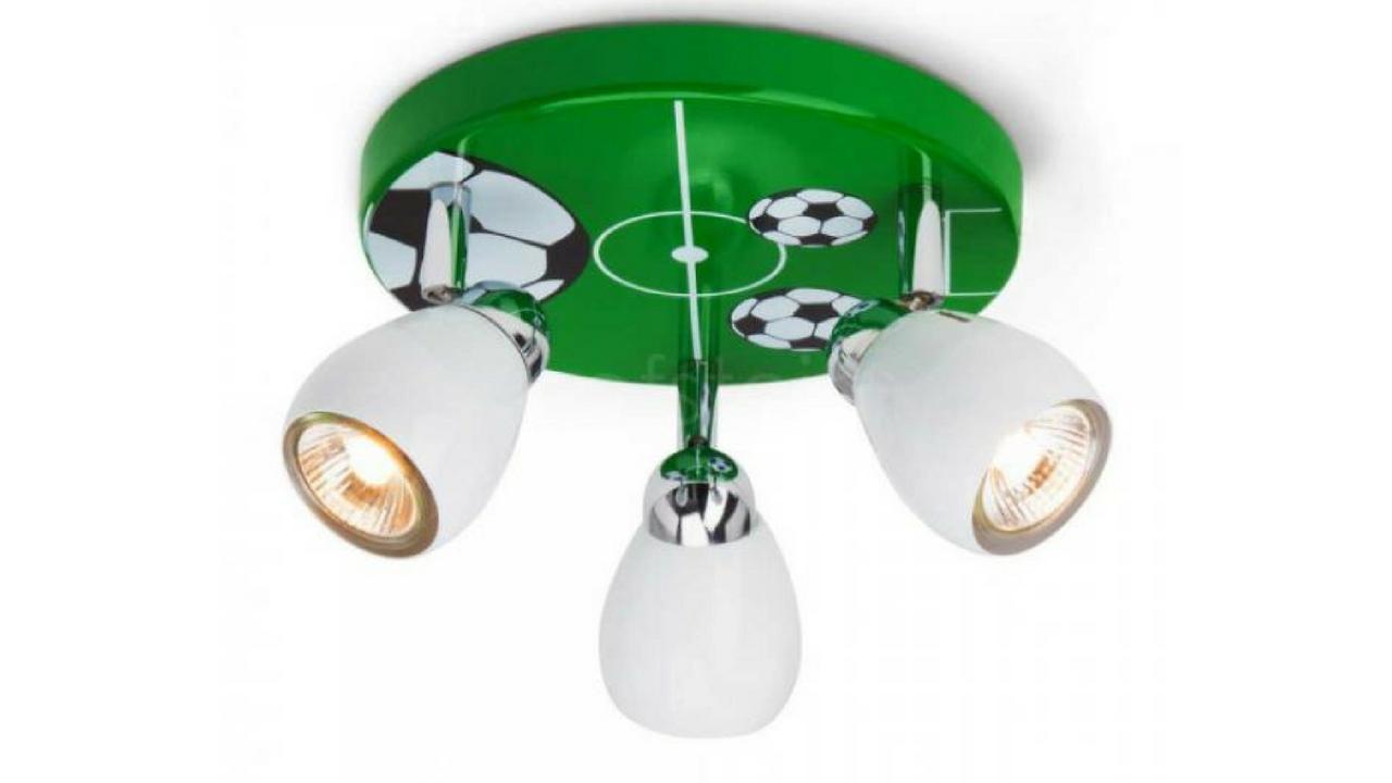 green football themed bedroom light