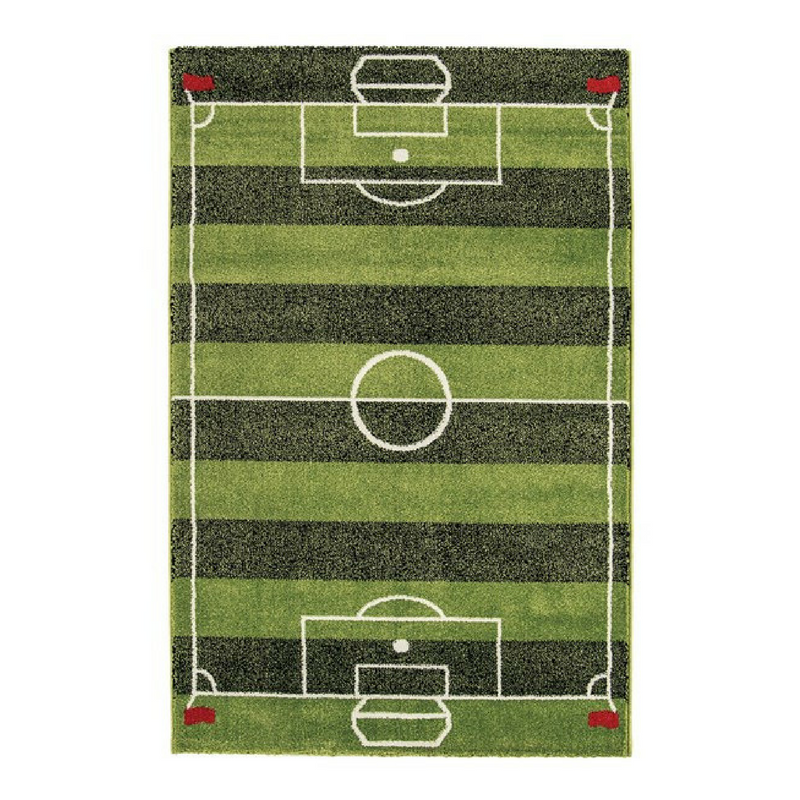 green football pitch rug from the rug seller
