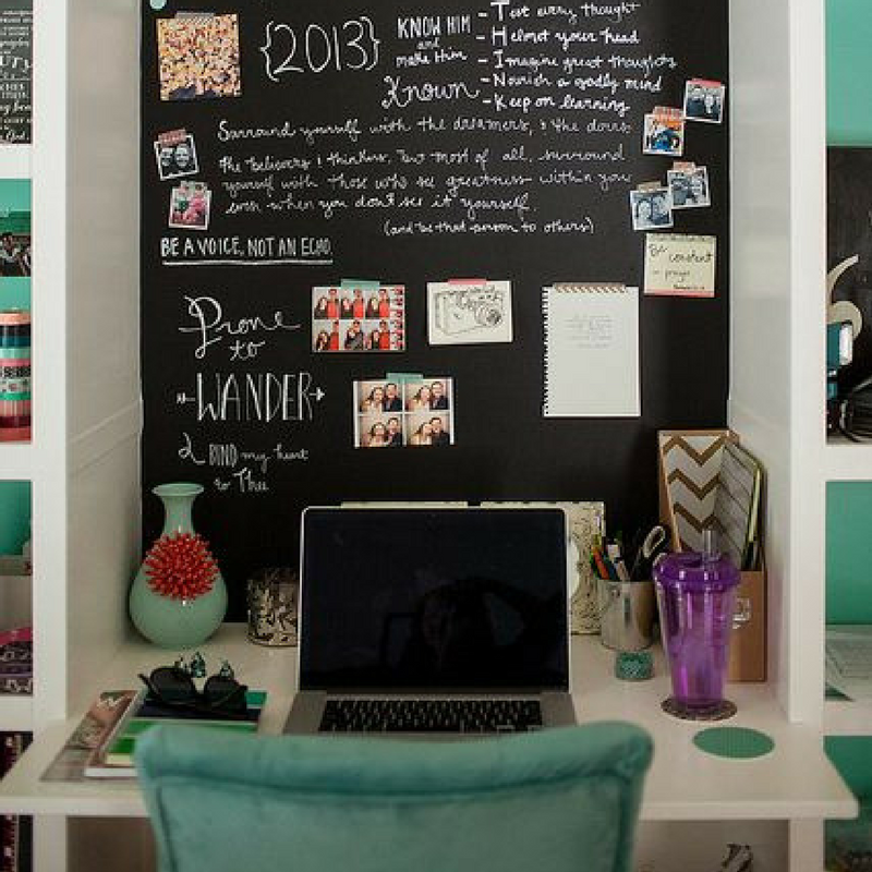 chalkboard desk for a student room