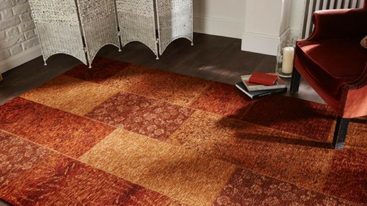 Manhattan patchwork chenille rug