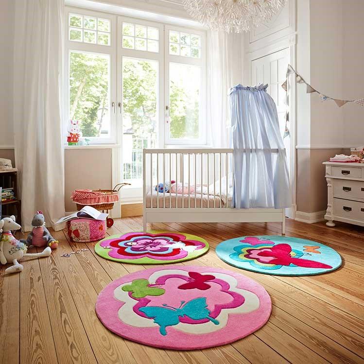 Esprit Fantasy Flower Circular Kids Rug