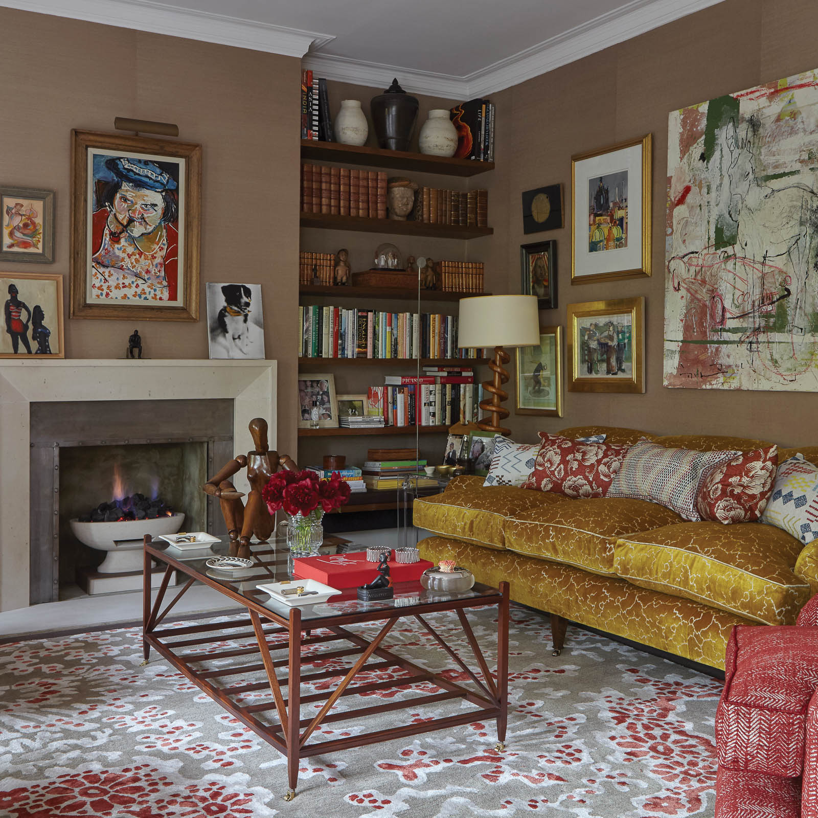 Teidi rugs in Ruby by William Yeoward