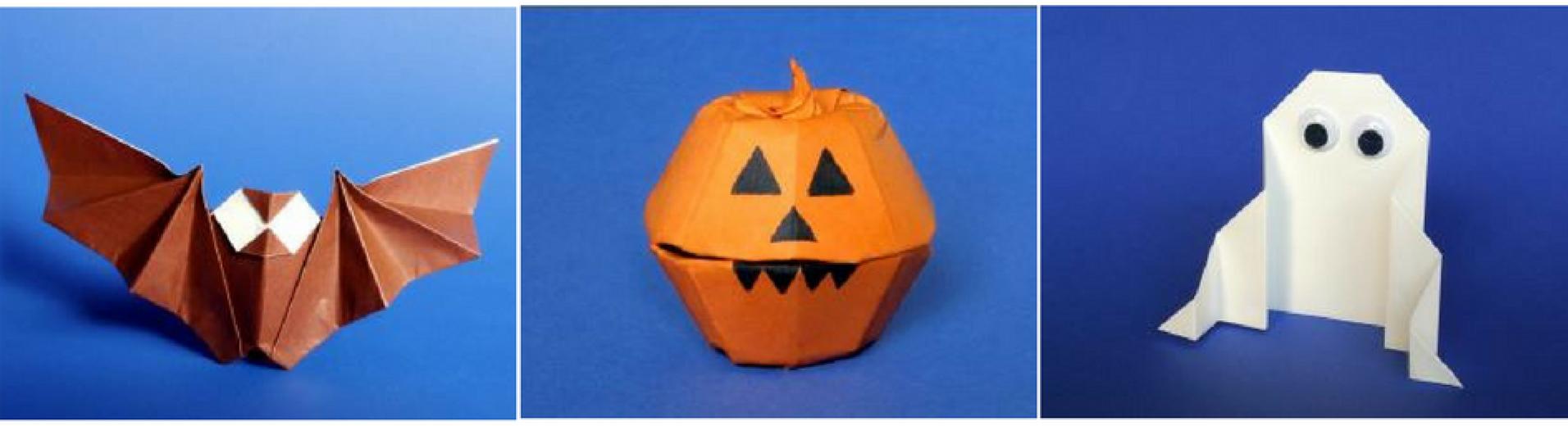origami Halloween creatures