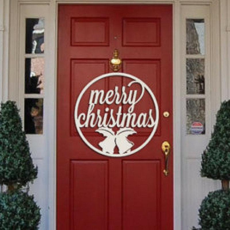 merry christmas door decoration