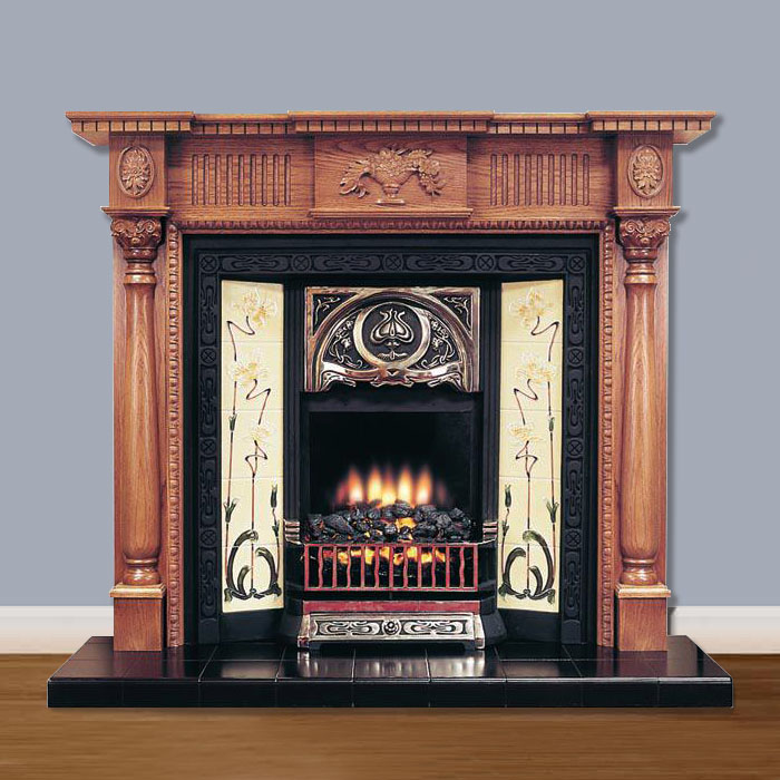 classic vintage victorian fireplace