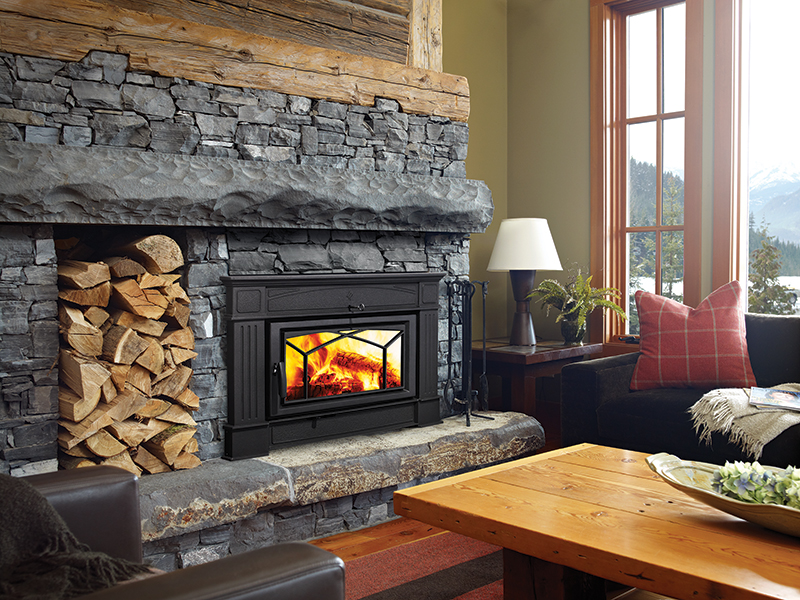 wood/log burning fireplaces