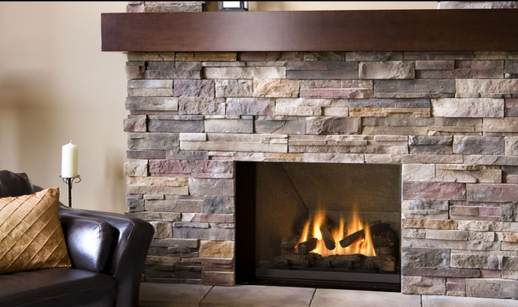 ledgestone fireplace surrounding