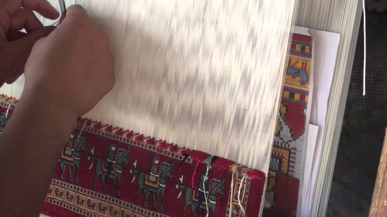 traditional turkish rug being woven