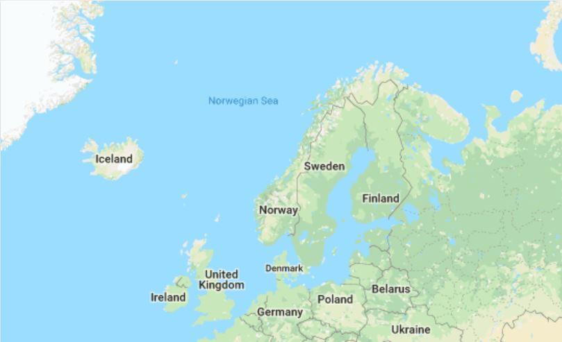 map of scandinavia