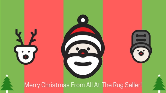 Merry Christmas graphic from the rug seller