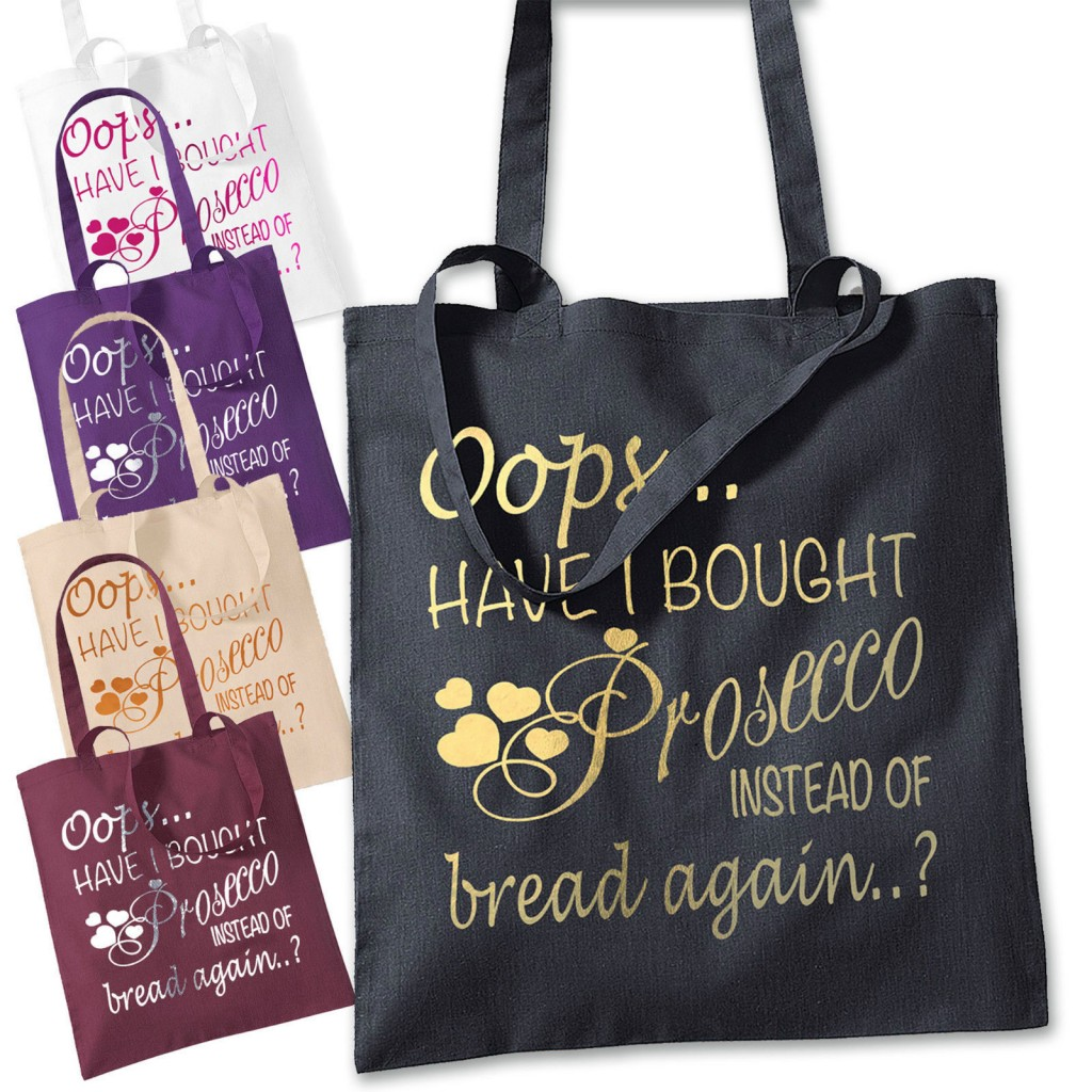 Oops Have I Brought Prosecco Instead Of Bread Cotton Shopping Tote Bag