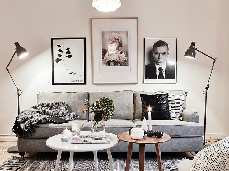 lamps in a well decorated Scandinavian interior