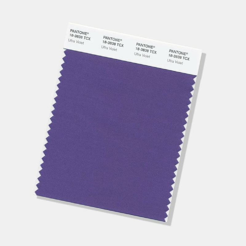 Ultra Violet Pantone Colour of the Year Swatches