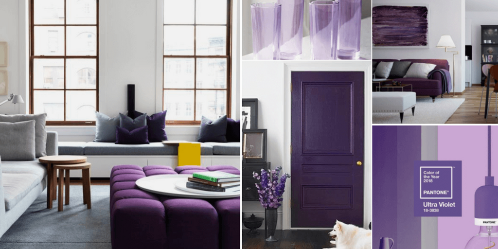 Ultra Violet Pantone Colour of the Year Home Interior Design