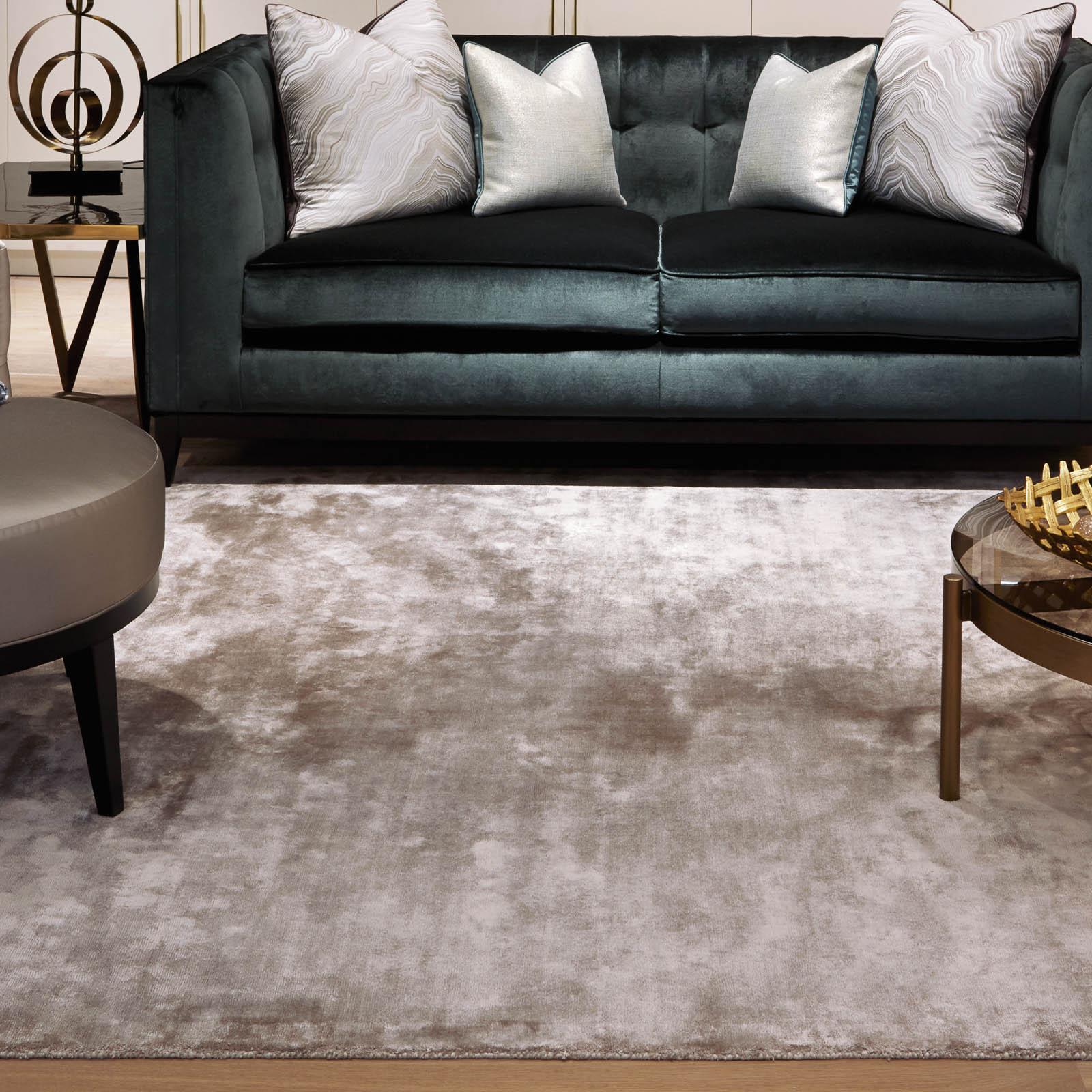 crushed velvet chrome rugs