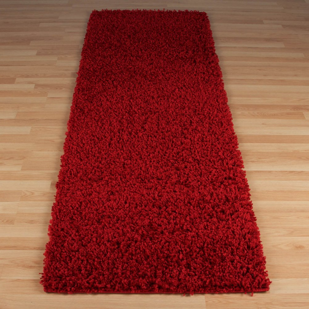 Elsa shaggy hallway runner in red