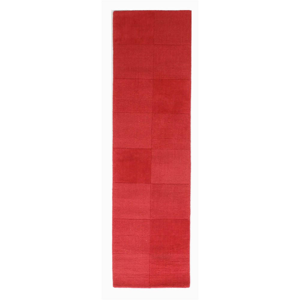 Wool squares runners in red