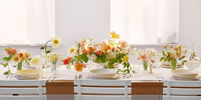 spring flowers on a table