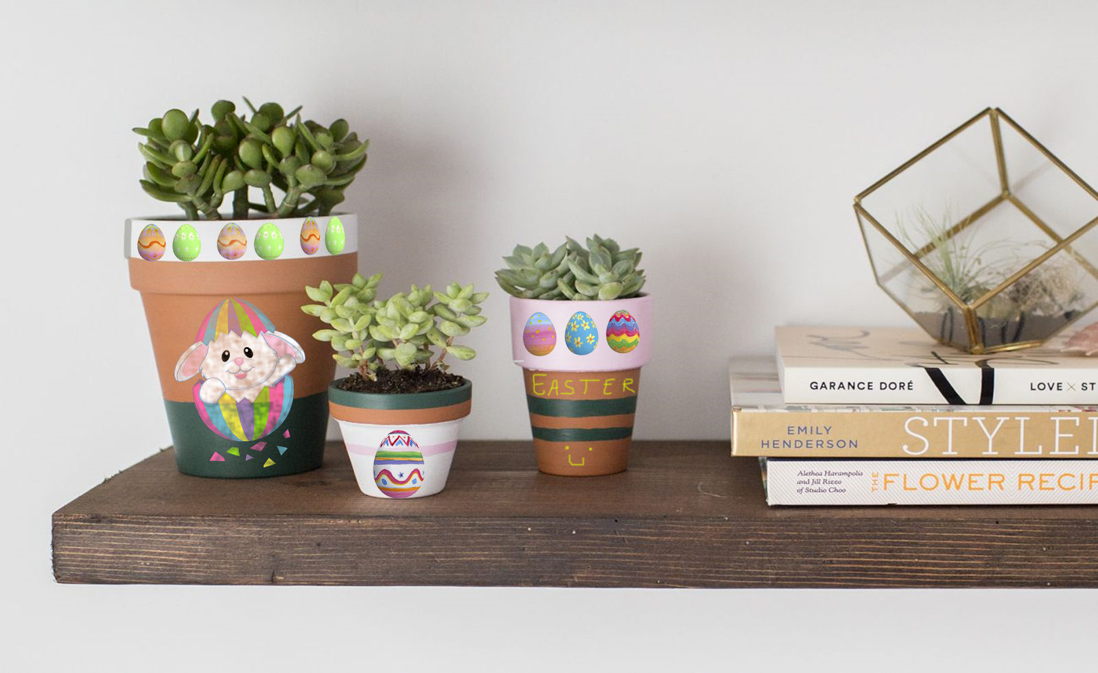 painted plant pots for easter