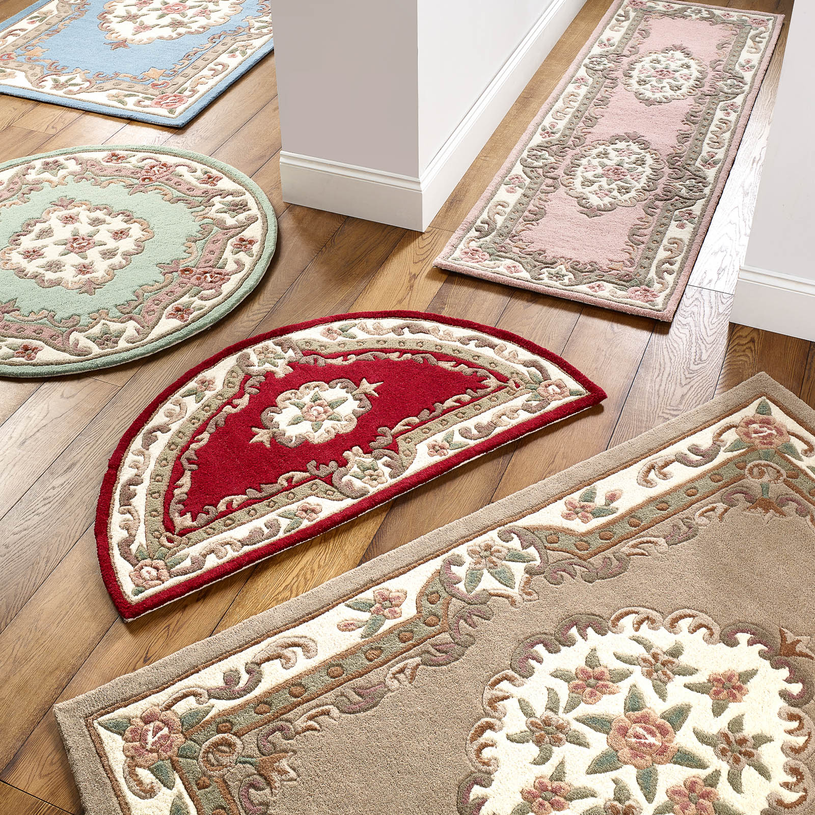Accessorize Home Shensi Traditioinal Wool Rugs in Beige