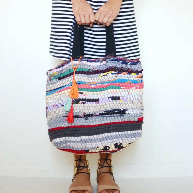 diy rag rug bag upcycle your rug