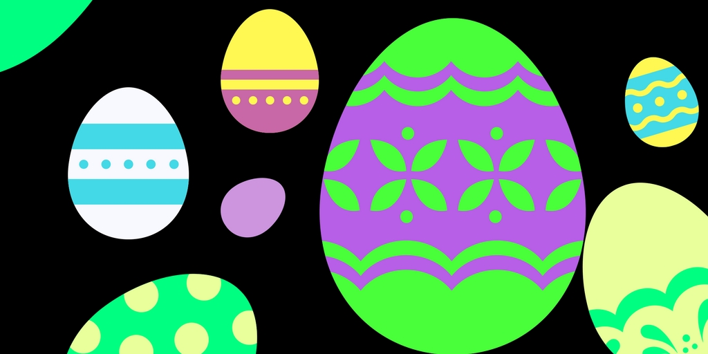 glow in the dark easter egg graphic